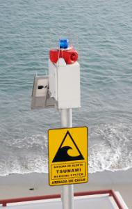 satellite M2M warning system