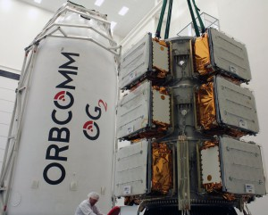 ORBCOMM OG2 Mission 2 fairing and satlellite payload