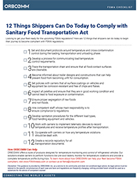 FSMA compliance checklist for shippers