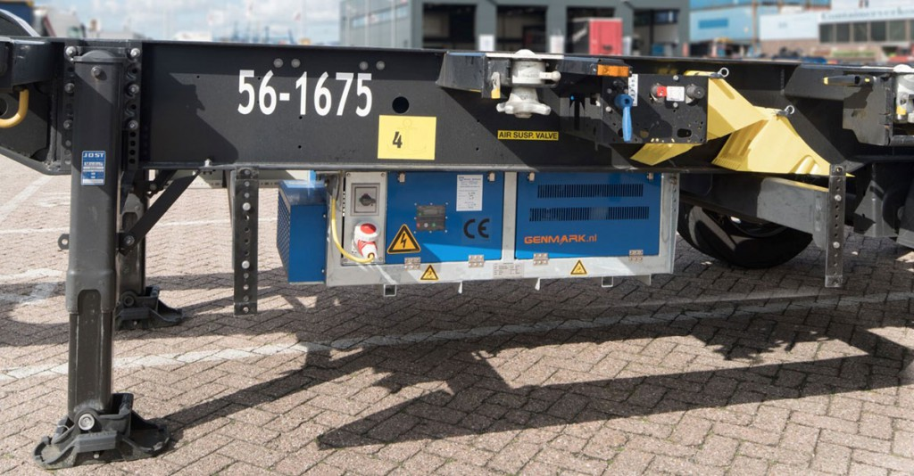 reefer genset on chassis