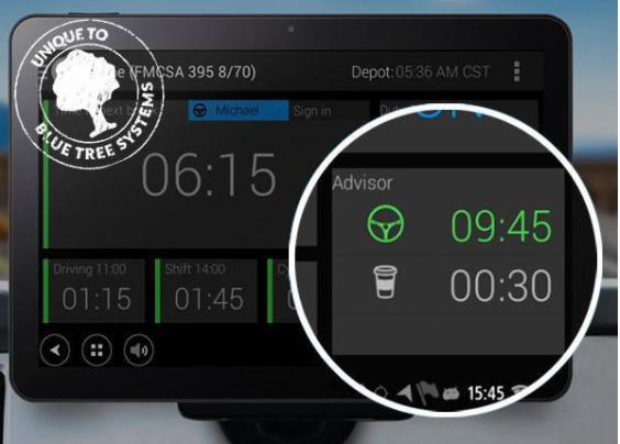ORBCOMM's Blue Tree system is the only ELD product with a built-in HOS Advisor for drivers to maximize hours based on their current working day/cycle.
